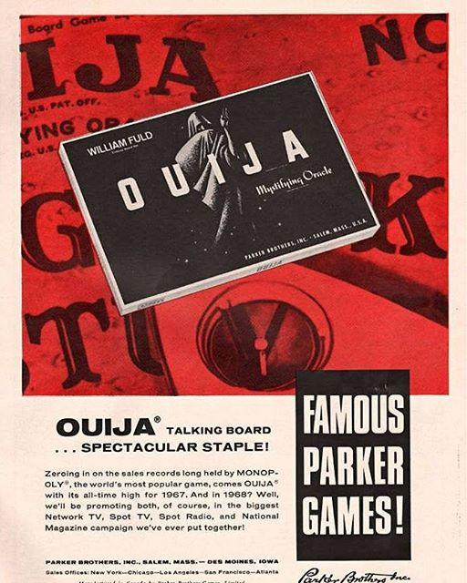 1967 Parker Bros Ouija Board Magazine Ad