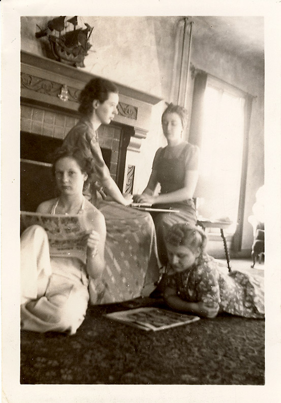 1930s Women playing Ouija