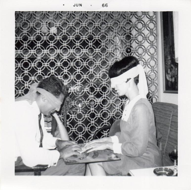 1966 blindfolded people playing ouija