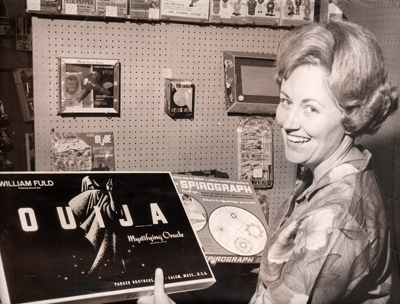 1967 Ouija board in toy store
